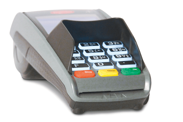payment terminal front view