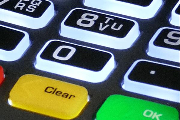 payment terminal key pad
